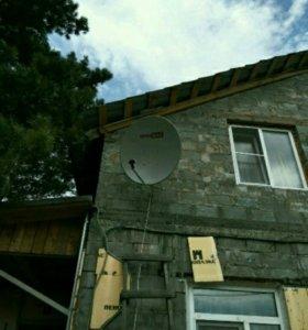 Антенна спутниковая, диаметр 0,9 м.