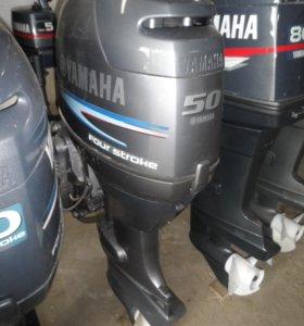 отличный лодочный мотор YAMAHA F 50 , нога L