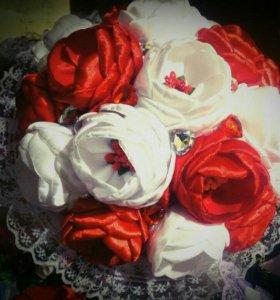 Свадебный букет невесты или Брошь-букет