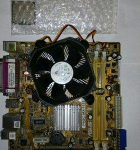 Asus P5GC-MX/1333+процессор + куллер
