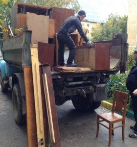 Вывоз мусора, строй.отходов, хлама, мебели