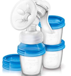 Молокоотсос c контейнерами для хранения молока