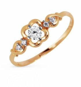 Кольцо золотое новое 15,5