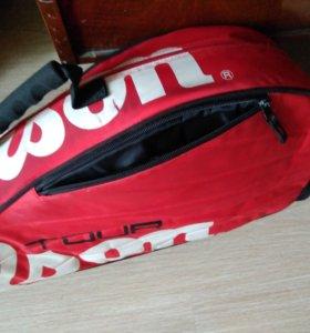 Теннисная сумка wilson и чехол для ракетки