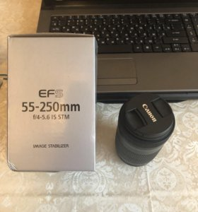 Объектив canon Efs 55-250 f/4-is stm