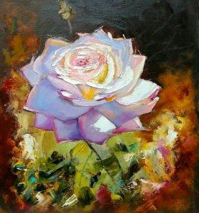 """Картина маслом """" Роза"""""""