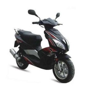 Скутер VENTO SORRENTO 49cc (150) сигнализация, чер