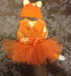 Лисичка новогодний костюм на малышку