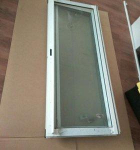 Окно балконное, аллюминиевое