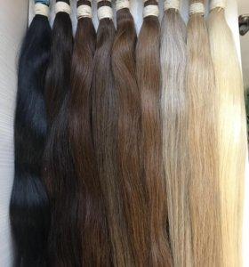 Южно-русские волосы в срезах 65 см все цвета