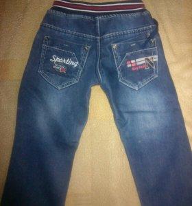 Тёплые, детские джинсы