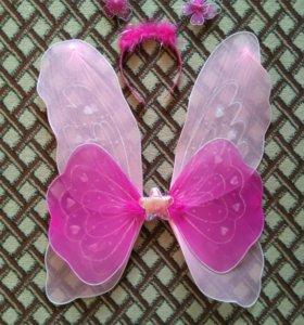 Крылышки и ободок для новогоднего костюма