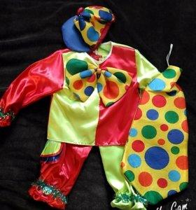 Костюм новогодний 2 в 1 клоун и петрушка