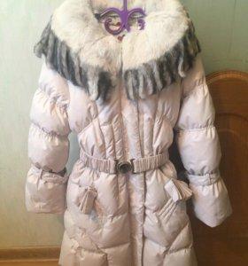 Пальто зимнее детское 140см