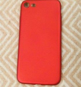 Чехлы для iPhone 7, iPhone 8 красный и черный