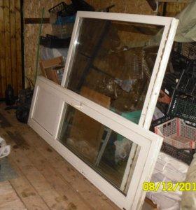 Пластиковое окно и дверь б/у.