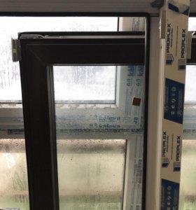 Пластиковое окно и балконная дверь