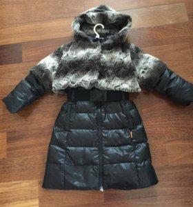 Пуховое пальто длинное Нелс Nels 128 134