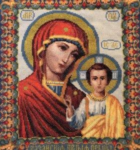 Икона вышита крестиком