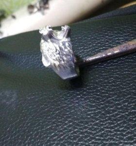 Перстень из серебра Медведь