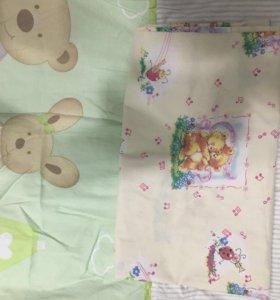 Детская кроватка +матрас+бортики