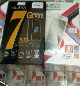 Защитные 3D стёкла Iphone, samsung ../