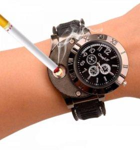 Мужские часы USB-зажигалка