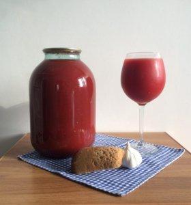 Домашний томатный сок 3л. 100% томат, без воды!