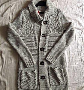 Кардиган, свитер, длинный, тёплый