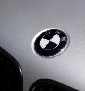 Оригинальные эмблемы BMW на капот руль багажник