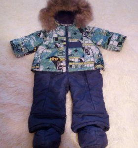 Зимний комбинезон с теплой подкладкой