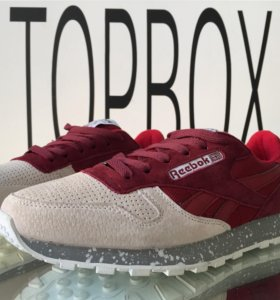 Reebok Classic red and beige