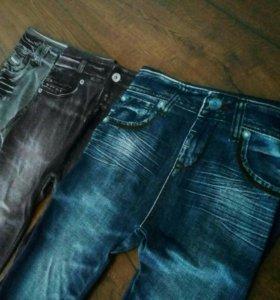 Леджинсы джинсы с карманами