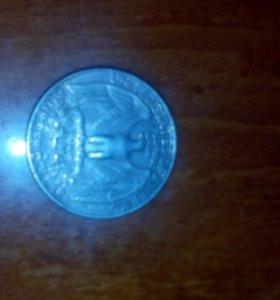 Монета Liberty перевертышь 1985 года