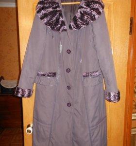 Пальто зимнее б/у из плащёвки