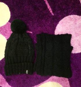 Комплект шапка шарфик