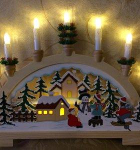 Новогоднее украшение для дома с подсветкой
