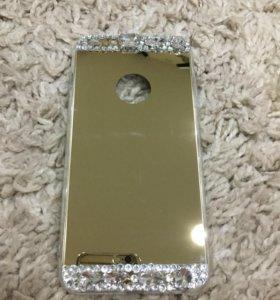 Зеркальный силиконовый чехол iPhone 6 +, 6 S +