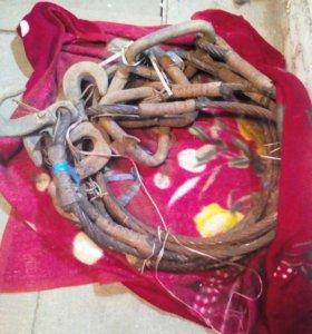 Стропы тросовые с крюками на кран или варавайку