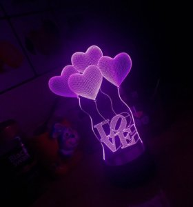 3D ночник «Love»