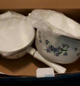 Набор эмалированной посуды новый