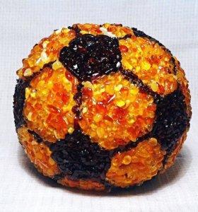 """Копилка """" Мяч"""" в янтаре"""