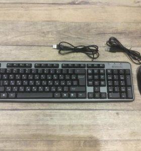 Клавиатура и мышка, оптическая, USB !!! новые