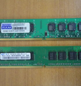 DDR2 1GB PC2-6400 Samsung и GOOD RAM