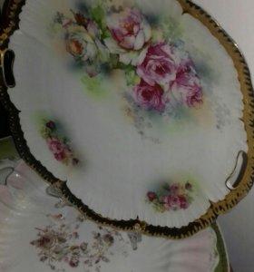 Старинное блюдо Лимож