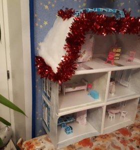 73 см новый, кукольный домик, игрушечный дом