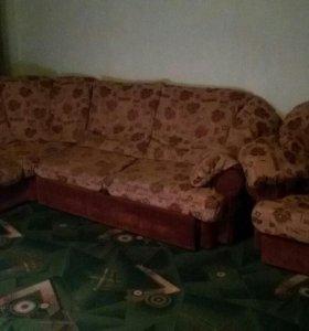 Мягкий уголок (диван угловой+кресло)