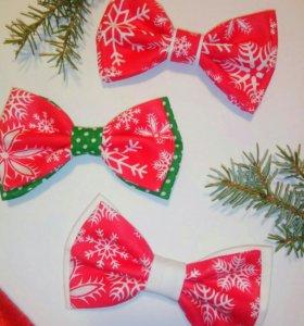 Новогодние галстуки-бабочки