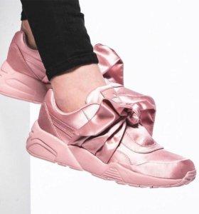 Puma bow sneaker Rihanna розовые 35-40 размеры