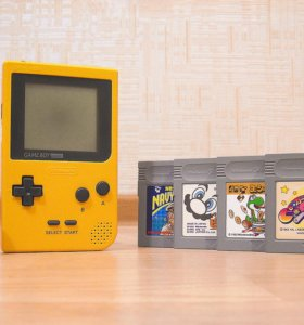 Nintendo Game Boy Pocket + 4 картриджа